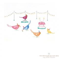 Stefanie-Scharl-Illustration-Hühner-Party