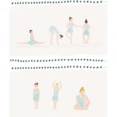 Stefanie-Scharl-Illustration-Kinderbuch-Ballett-Tänzerinnen-Character