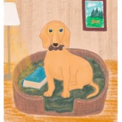 Stefanie-Scharl-Illustration-Kinderbuch-Dackel-Wohnzimmer-Character