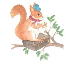 Stefanie-Scharl-Illustration-Kinderbuch-Eichhörnchen-Märchen-Character