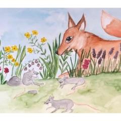 Stefanie-Scharl-Illustration-Kinderbuch-Fuchs-Ratten-Wiese