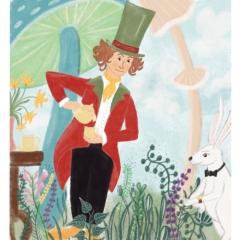 Stefanie-Scharl-Illustration-Kinderbuch-Hutmacher-Alice-Pilze-Märchen