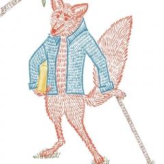 Stefanie-Scharl-Illustration-Kinderbuch-Märchen-Fuchs-Buntstift-Zeichnung