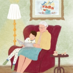 Stefanie-Scharl-Illustration-Oma-Enkel